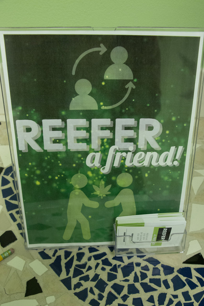 promotional sign at missouri cannabis clinic
