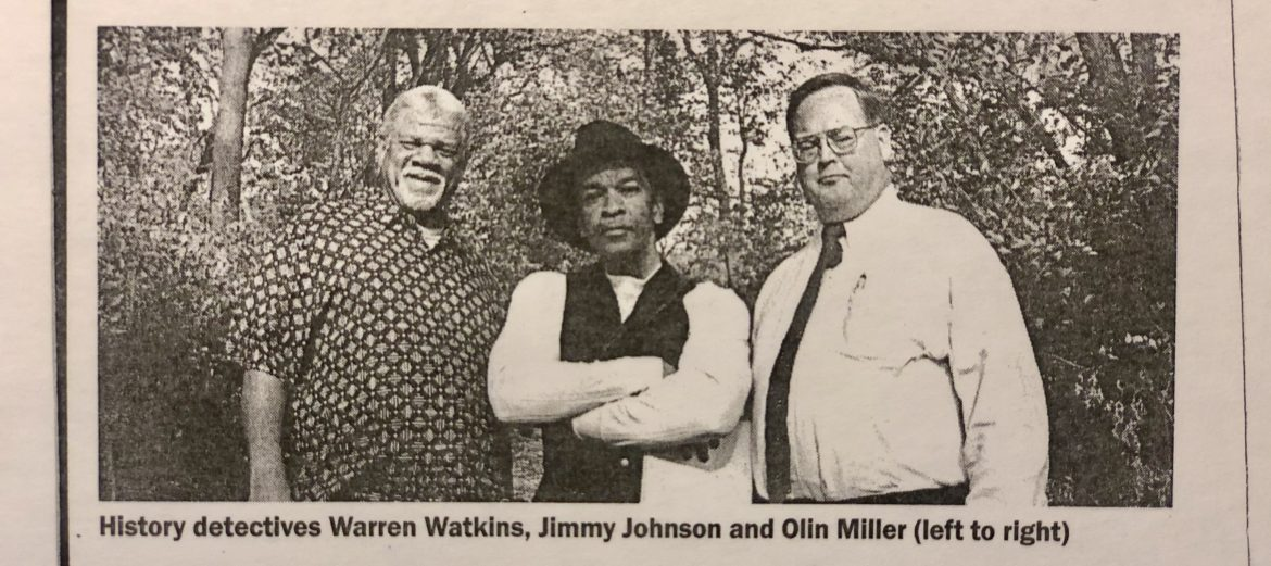 Warren Watkins, Jimmy Johnson and Olin Miller pose for The Pitch