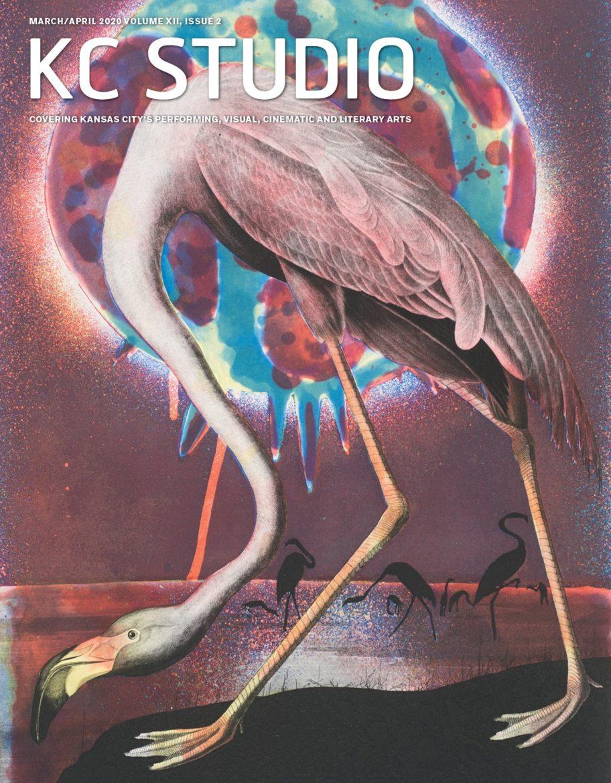 KC Studio Magazine cover with flamingo art