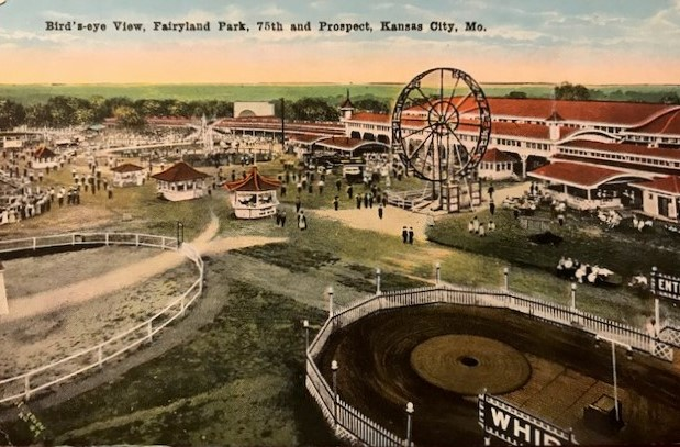 A postcard aerial view of Fairyland Park.
