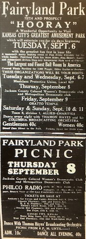 A  Fairyland Park advertisement in The Call newspaper.