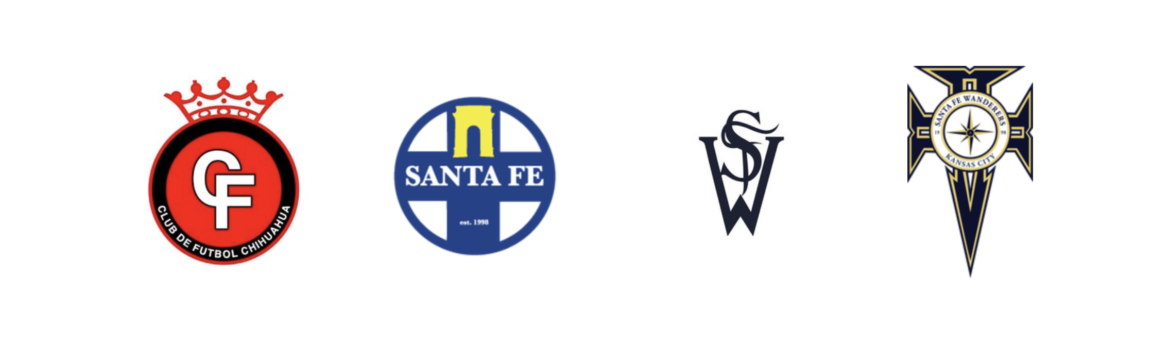 Santa Fe Wanderer crests through the years.