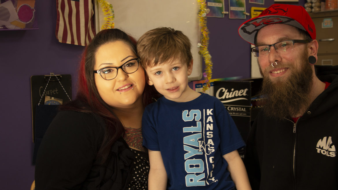 Alicia and Shawn Groves with their 5-year-old son Zander.