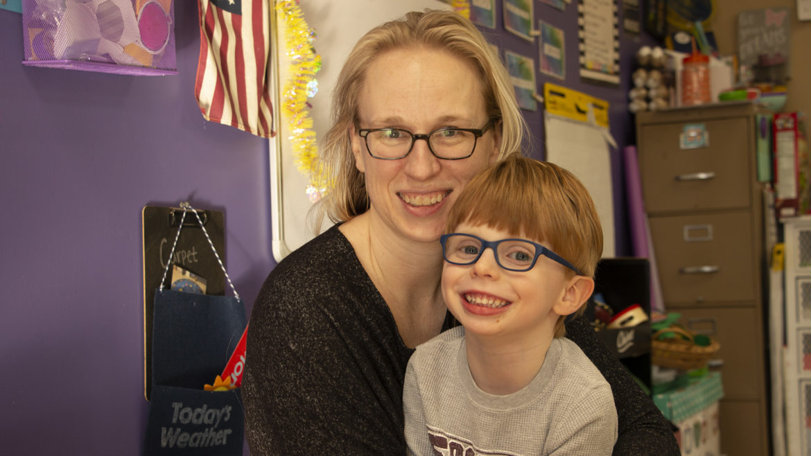 Jessica Oakley and her 4-year-old son Callan