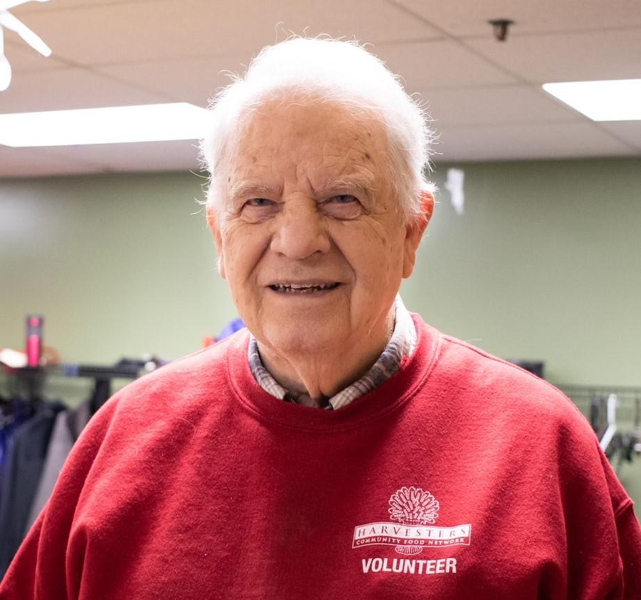 Harvesters volunteer Don McClain