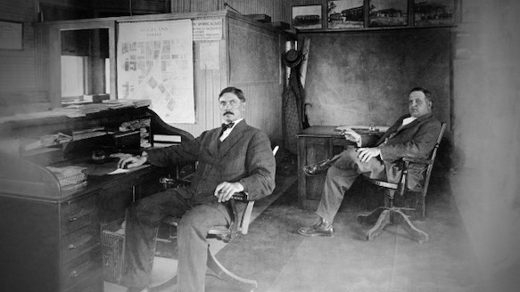 William Strang, Jr. (left) with his brother Robert.