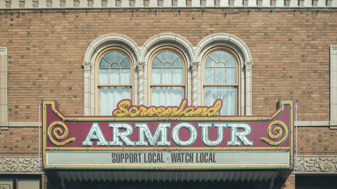 Screenland Armour Movie Theater's marquee