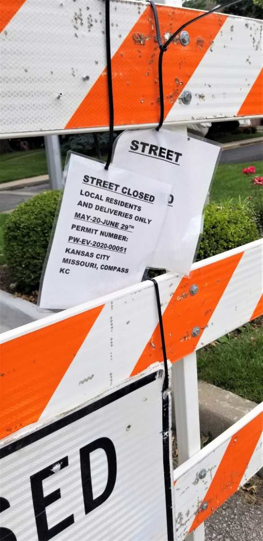 Neighorhood Open Streets notice. (Barbara Shelly | Flatland)