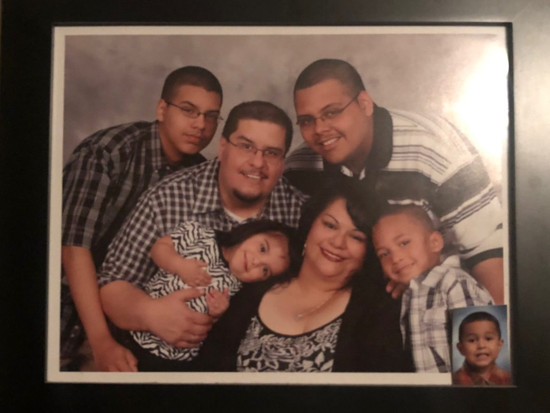 Joseph Hernandez and his family.