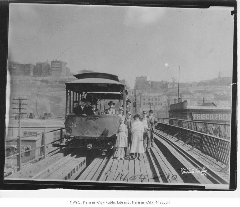Kansas City streetcar in 1913