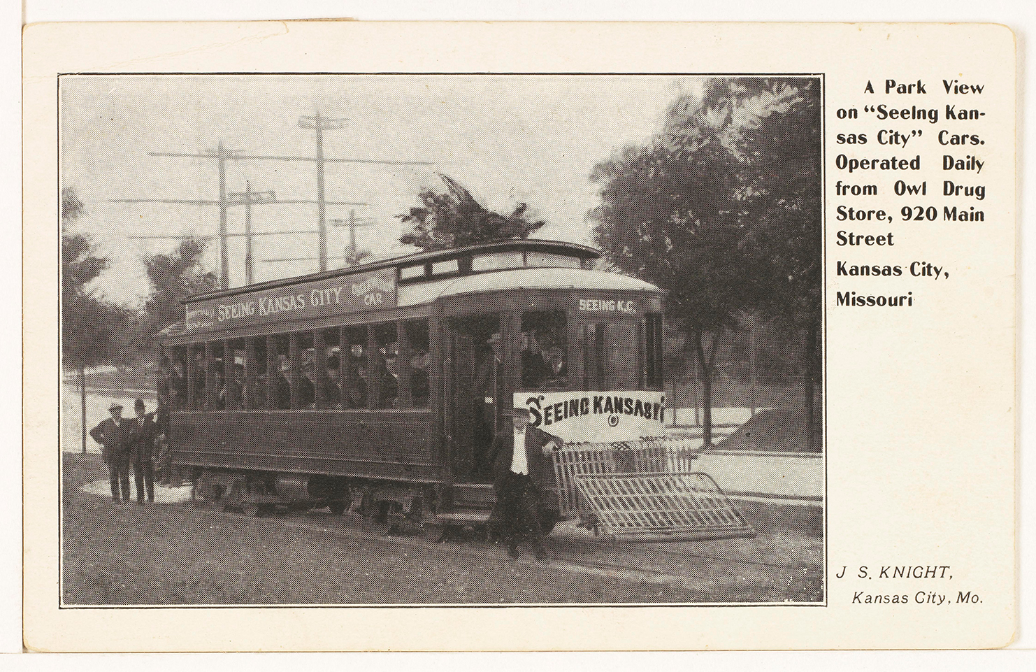 KC Streetcar postcard