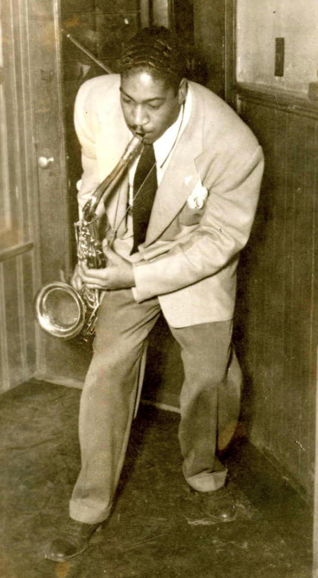 """Hal """"Cornbread"""" Singer playing in Baltimore in 1947."""