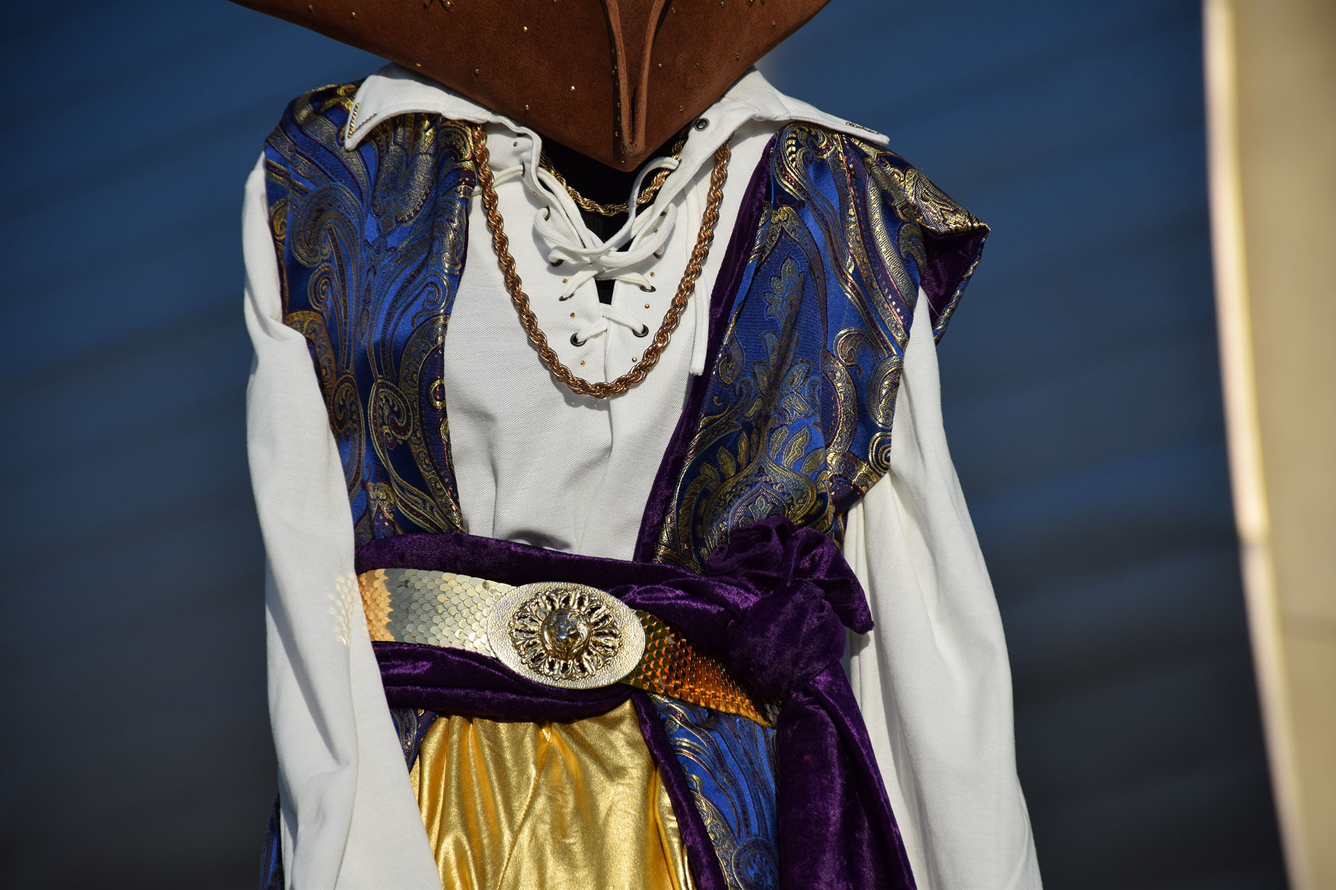 Pirate costume detail