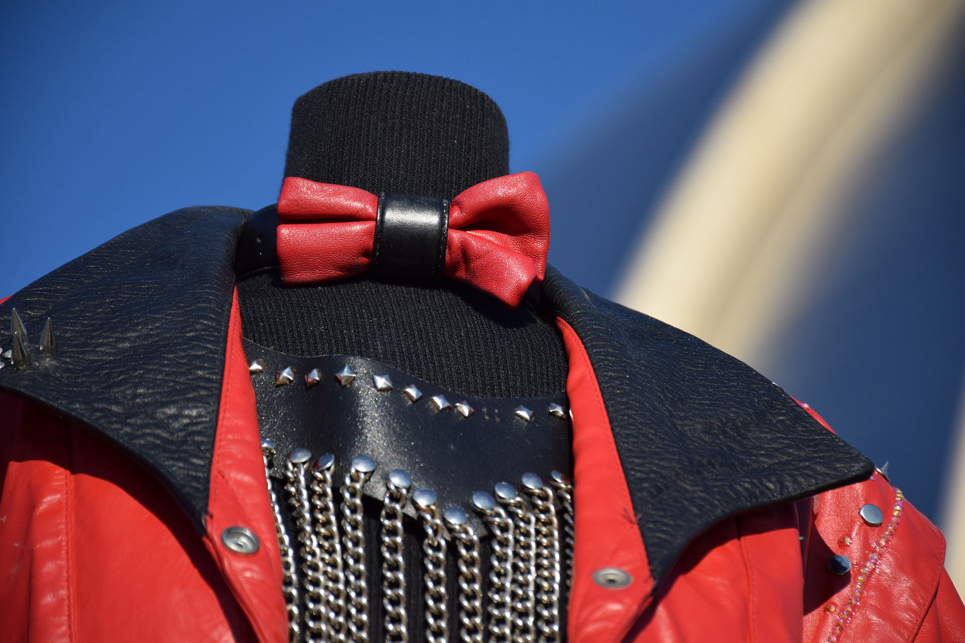 Red Jacket costume detail