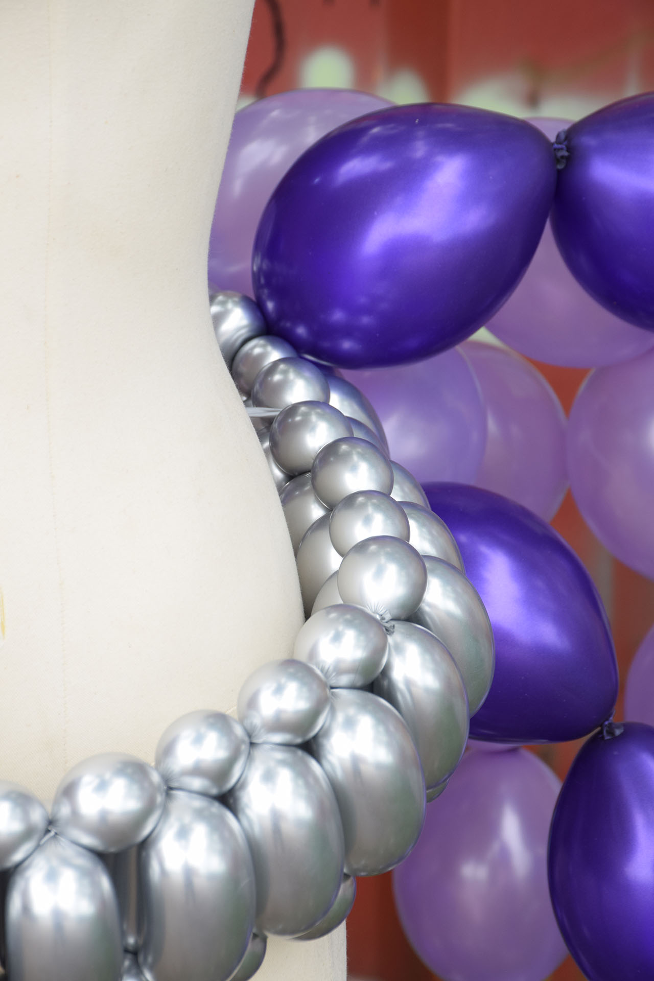Purple Balloon Belt detail