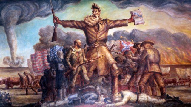 Mural at the Kansas State Capitol depicting John Brown