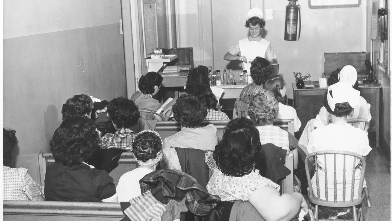 A Kansas City area Nurse Teaching a class