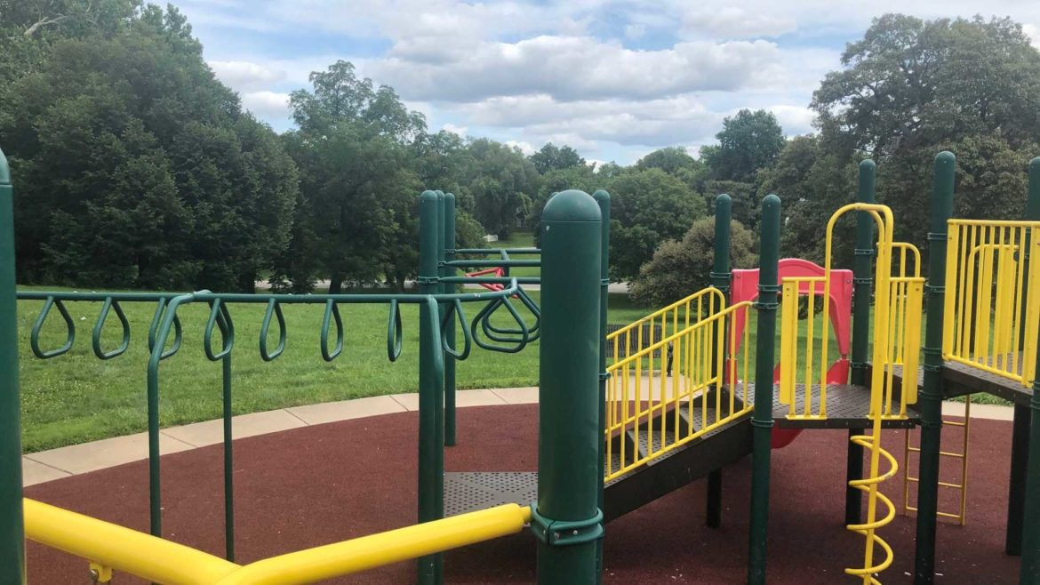 Renovated playground at Troost Park.