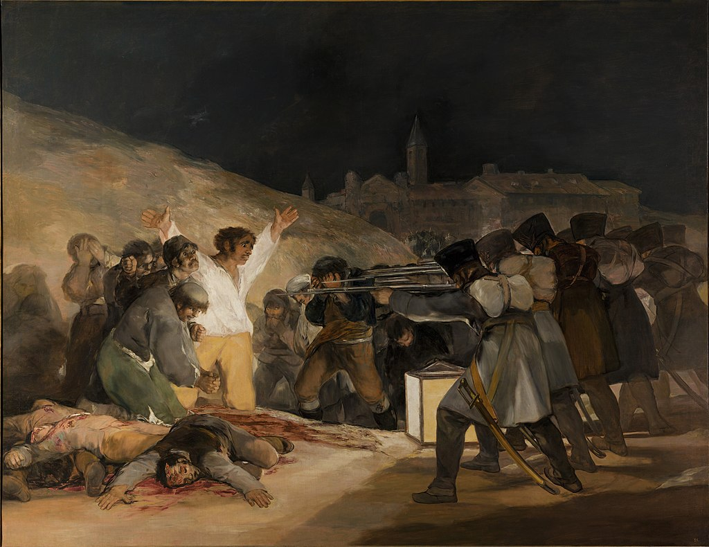 El Tres de Mayo, Francisco de Goya, painting reacts to war