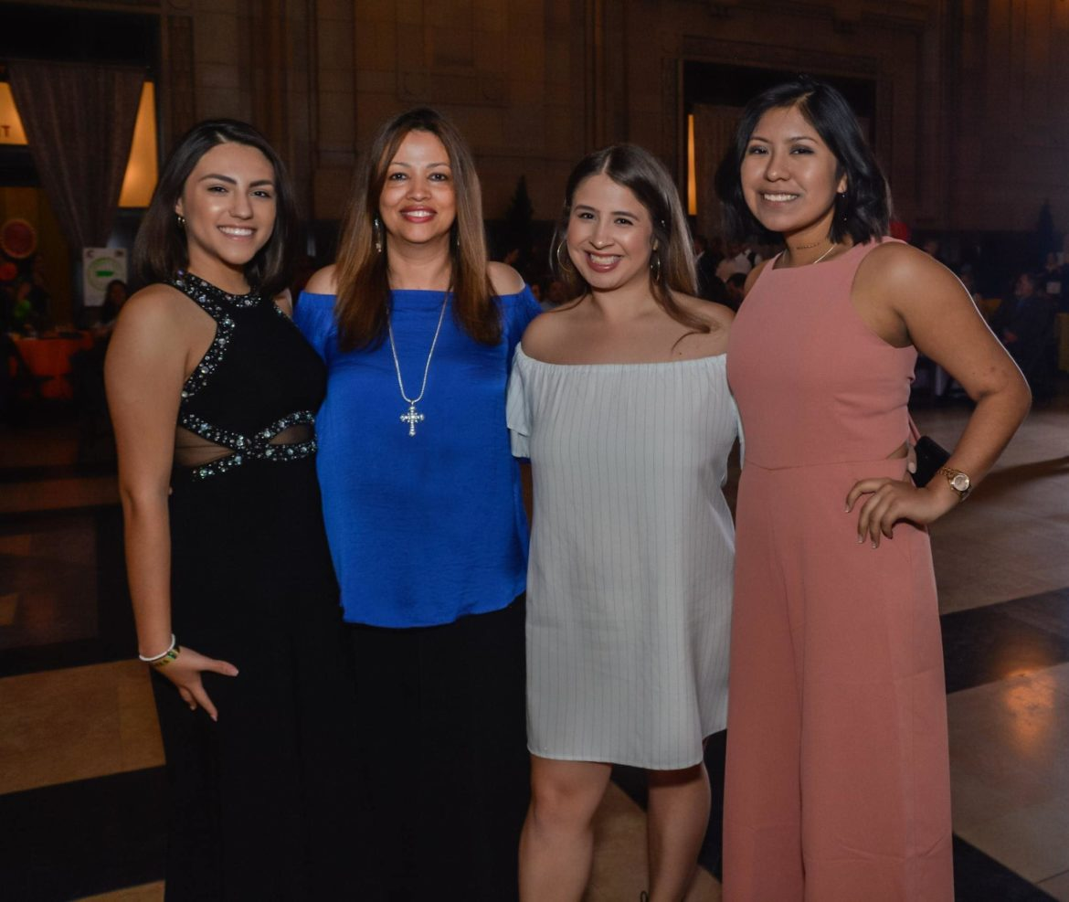 Amarilis Valdez-Dempsey (second from left) has dedicated the past 15 years to Kansas City youth mentorship.