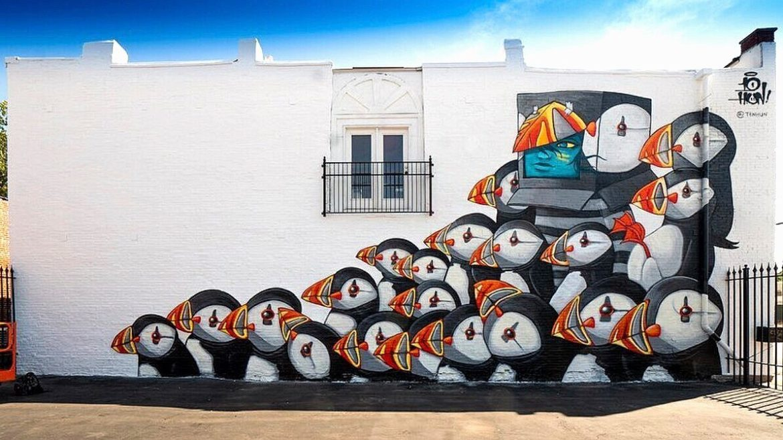 """Ten Hundred,"" a mural by Atomic Design"