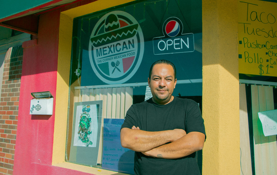 Alejandro Martinez, owner of The Corner Mexican Food