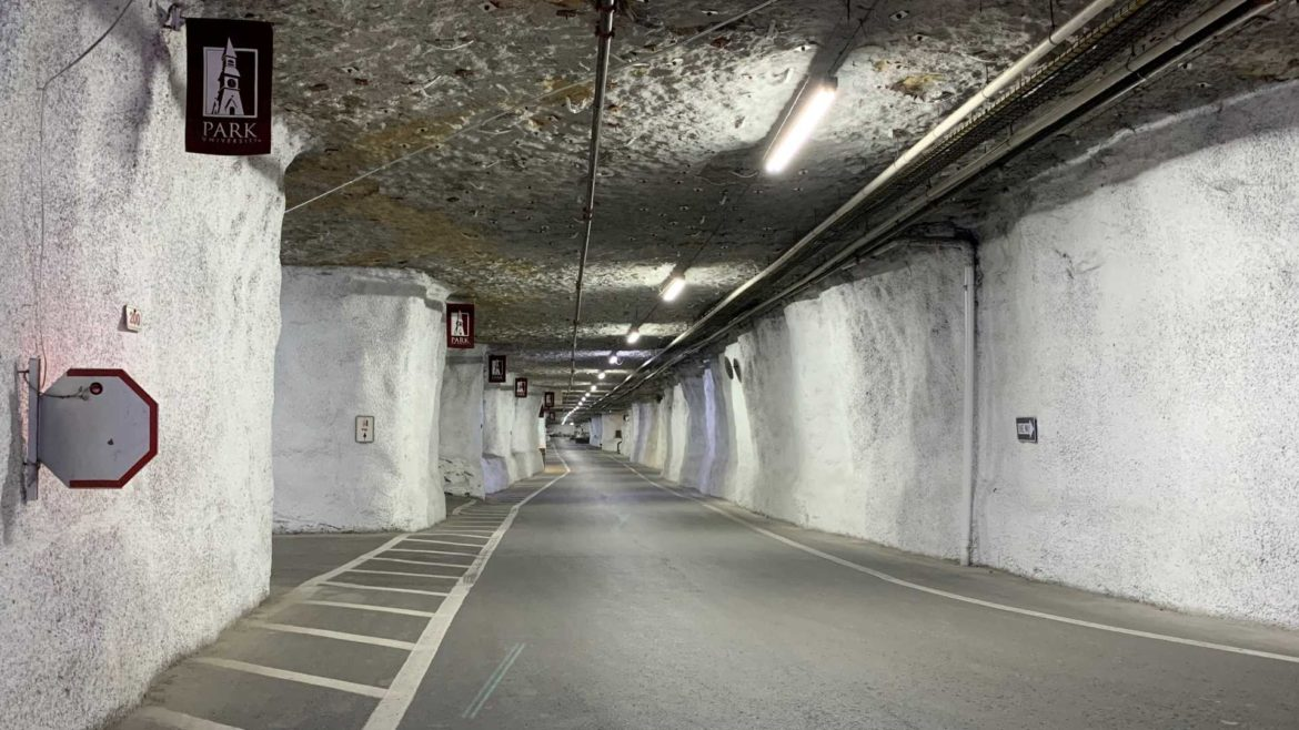 A traffic corridor within the Parkville Commercial Underground.