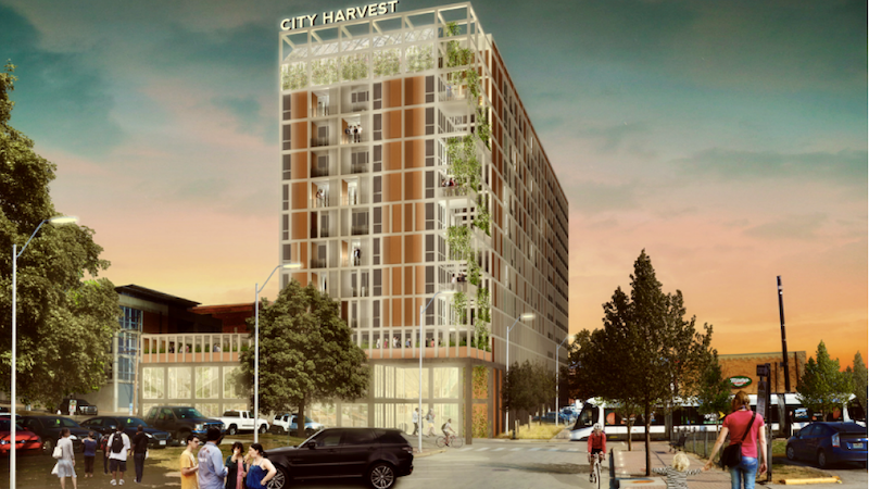 Flaherty & Collins of Indianapolis wants to build a 12-story, 300-unit building immediately west of the City Market.