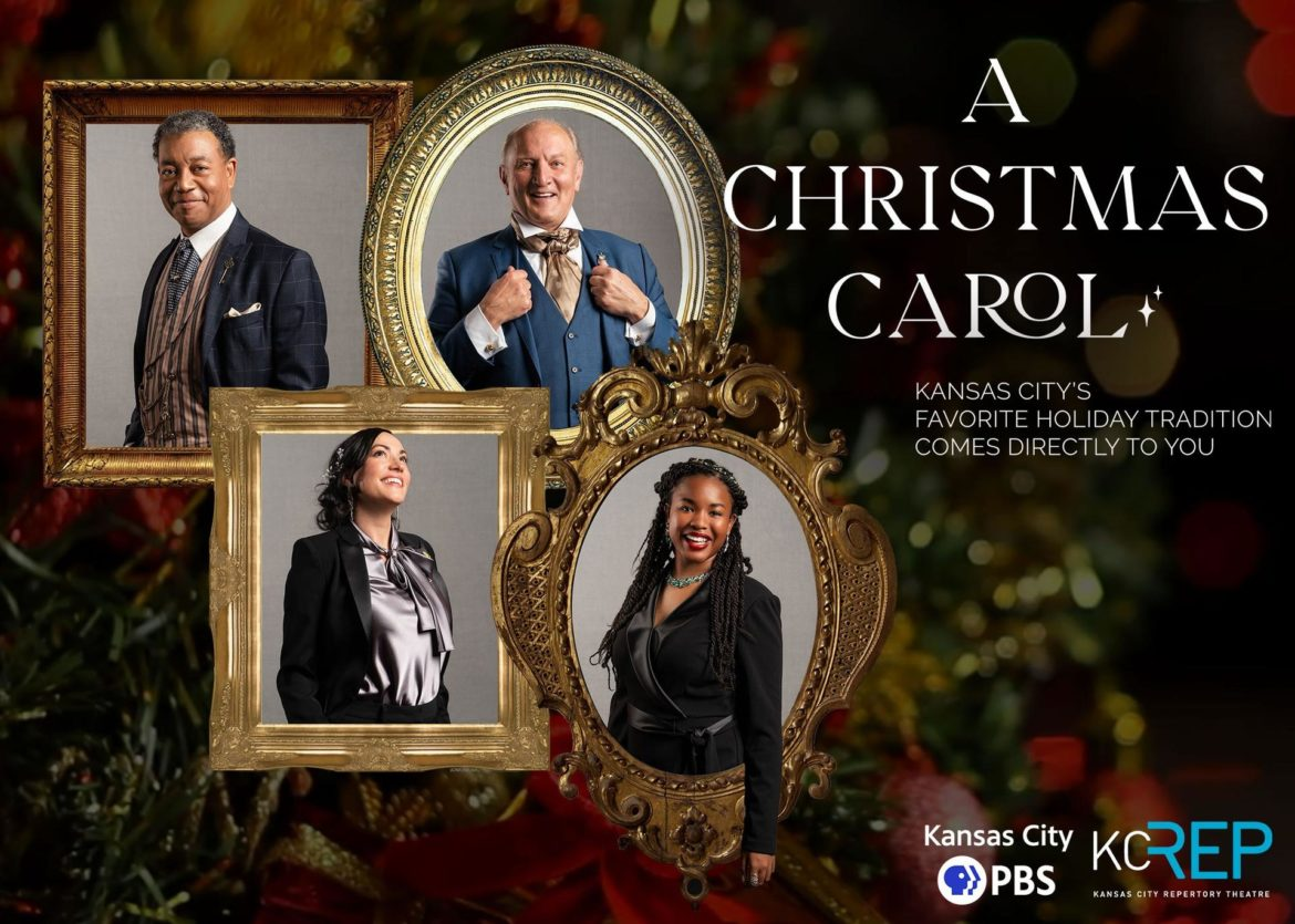 "Kansas City PBS recently collaborated with the Kansas City Repertory Theatre on a fireside version of the Charles Dickens classic, ""A Christmas Carol."""
