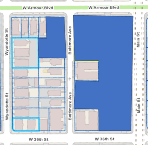 Map of Mac Properties acquisition on Main Street