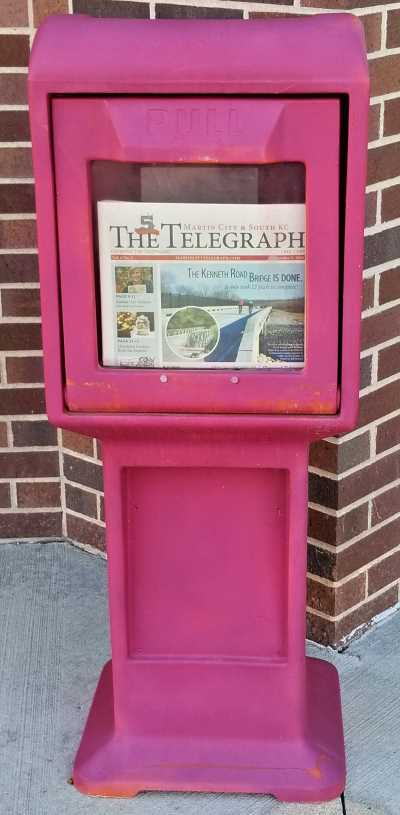 Readers can find the Martin City Telegraph in many locations in and around south Kansas City.
