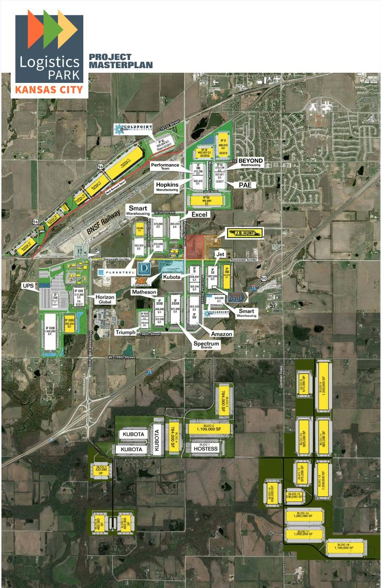 A masterplan for the Logistics Park Kansas City.