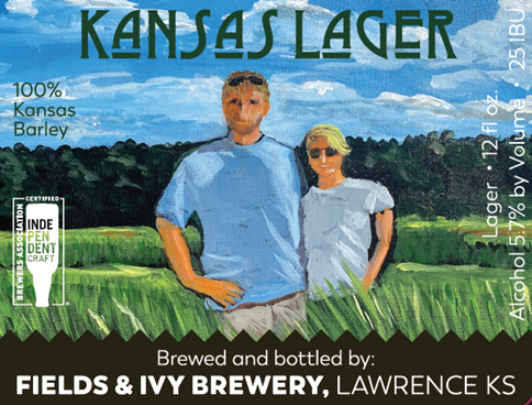 Fields & Ivy Brewery's label for Kansas Lager