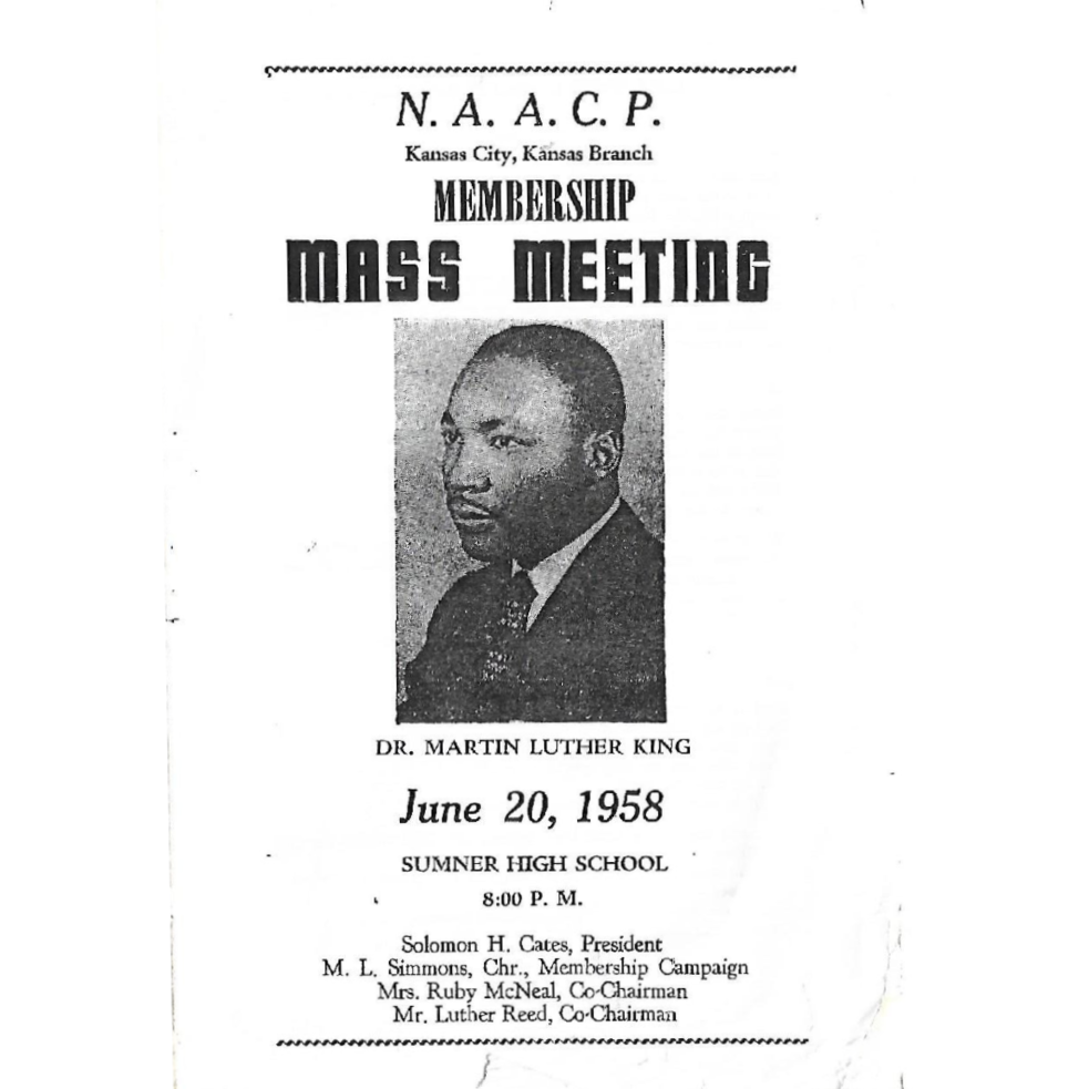Program from a King speech in Kansas City.