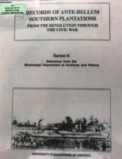 Among the resources available at the Midwest Genealogy Center in Independence are plantation records.