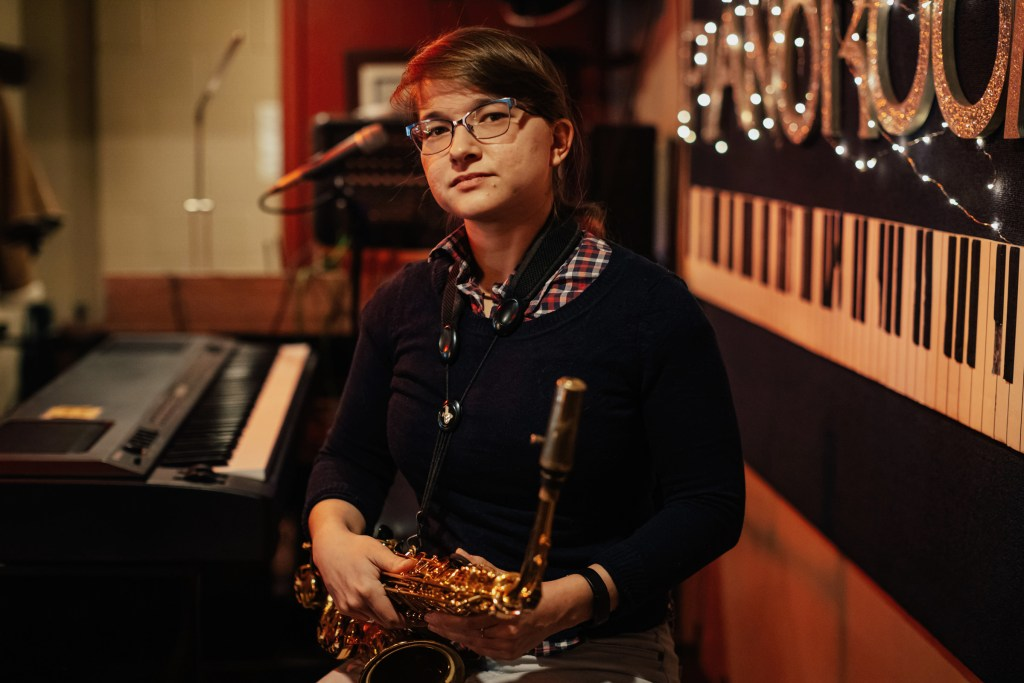 Saxophonist Aryana Nemati at The Piano Room