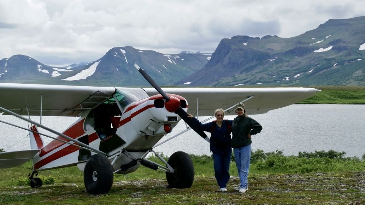 Michele Stauffer's first flight was in Alaska, where she continued to fly.