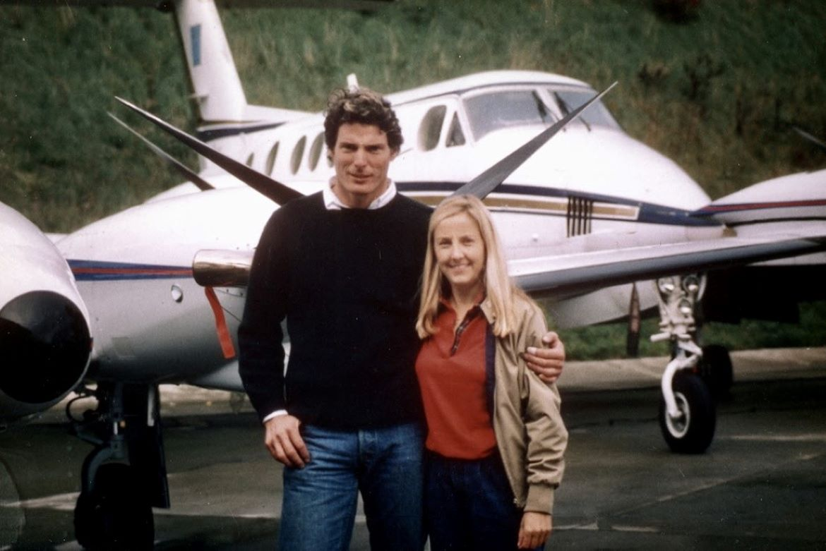 Michele Stauffer sold several planes to and for Christopher Reeve before his horseback-riding accident in 1995.