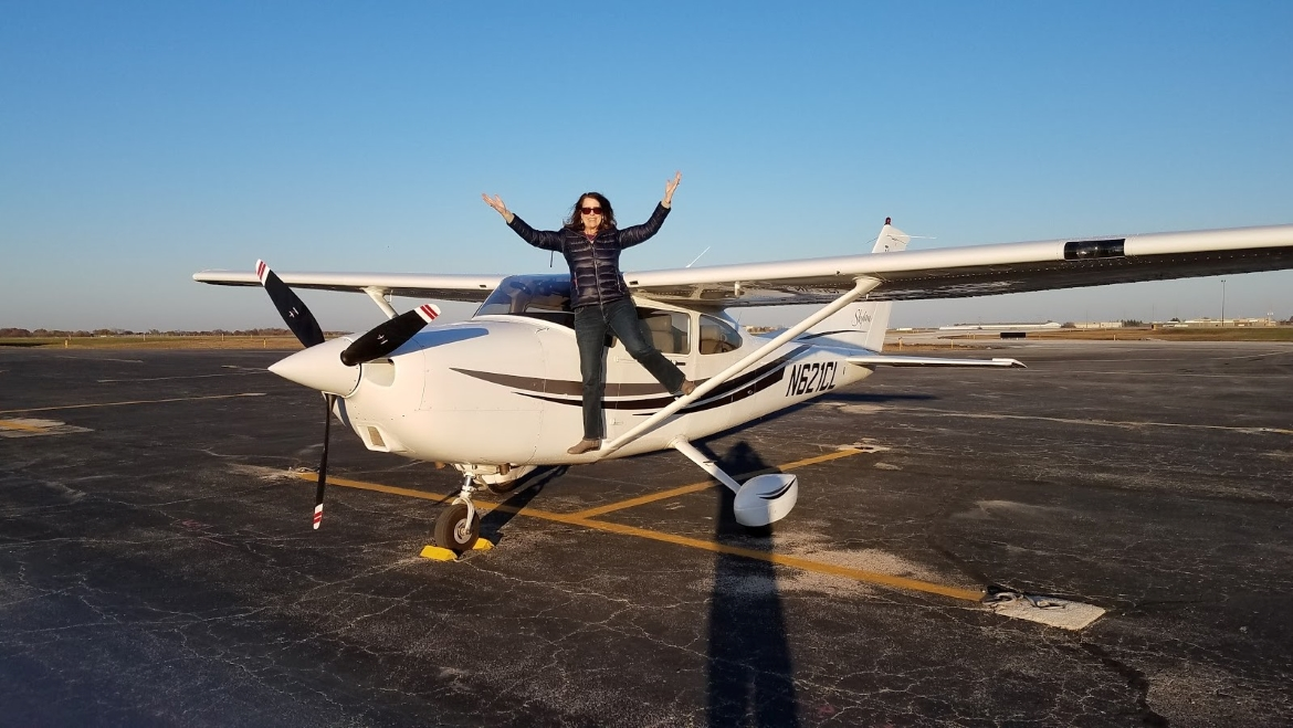 """In 2018, after years back in the air as an instructor, Jeanné Willerth became the co-owner of a Cessna Skyline, which she named """"Charlie."""""""
