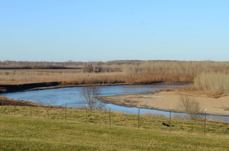 The Thompson River sits next door to the permitted CAFO cite on Friday, March, 19, 2021, in Chillicothe, Missouri.