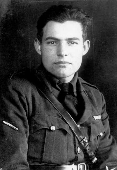 Ernest Hemingway in uniform circa 1918.