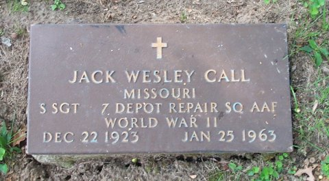 Jack Call's gravestone at Mount Washington Cemetery in Independence. i
