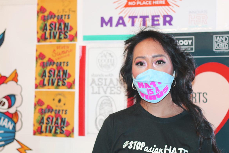 Jackie Nguyen, owner of Cafe Cá Phê, sponsored the Stop Asian Hate KC vigil held on March 28. (Nicole Dolan | Flatland)