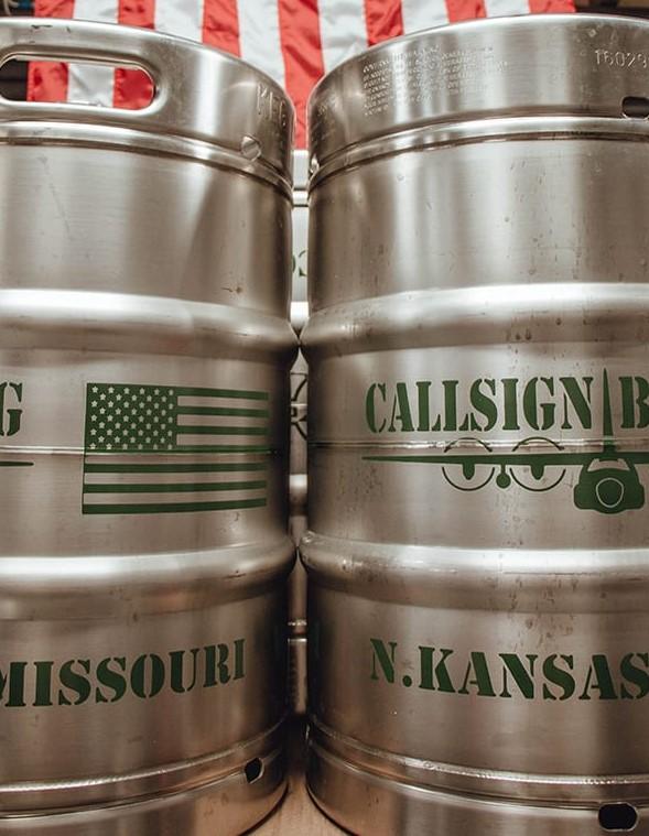 Callsign Brewing kegs.