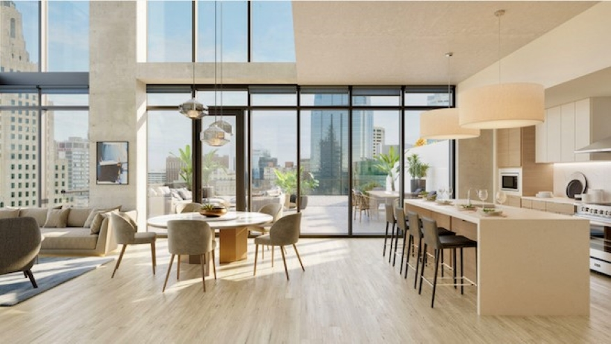 Three Light will feature penthouse units that are expected to go for up to $7,000 per month.
