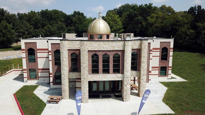 The Main entrance to the Islamic Society of Greater Kansas City.