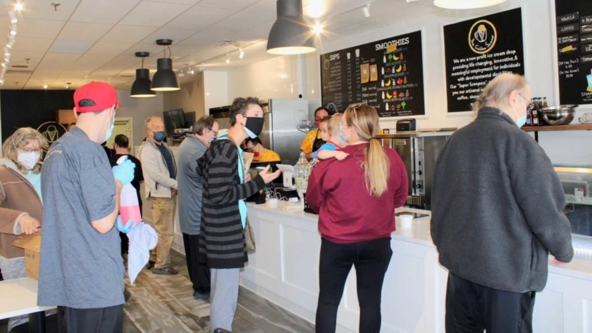 Since The Golden Scoop opened on April 14, customers have eagerly lined up to support the venture.