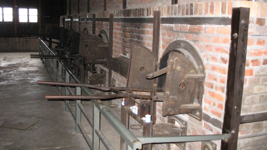 Some of the cremation ovens at the Nazis' Majdanek death camp in Poland.