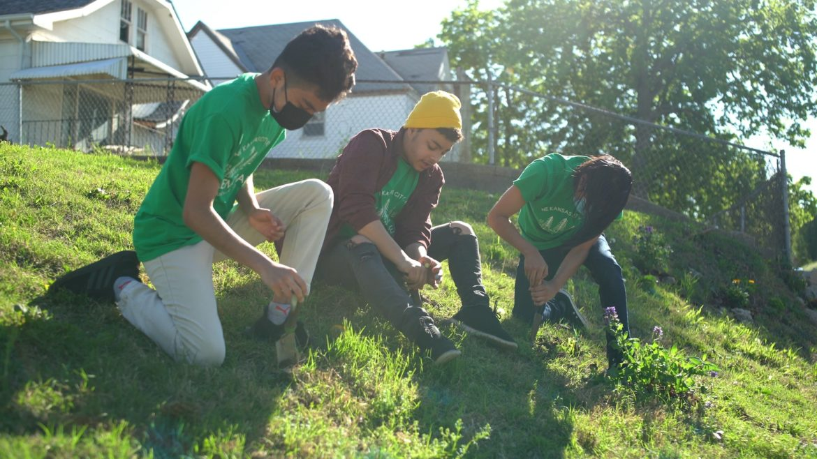 Members of Groundworks NRG's Green Team recently installed