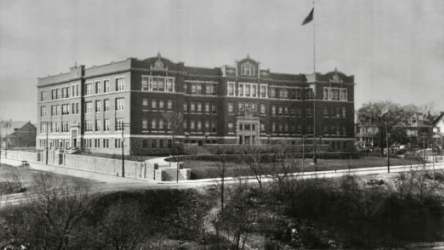 Westport High School as it looked in 1910, shortly after its opening.